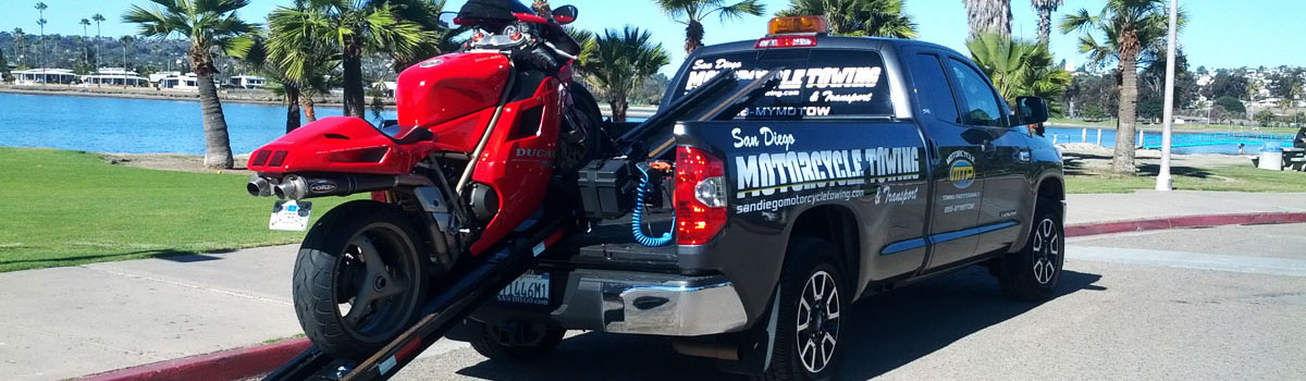 San Diego Motorcycle Towing Truck